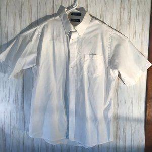 Puritan XL 17-17 1/2 White Dress Shirt Men's